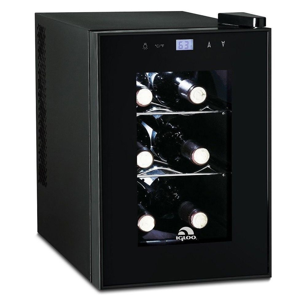 Igloo 6 Bottle Countertop Wine Cooler Digital Temperature Control