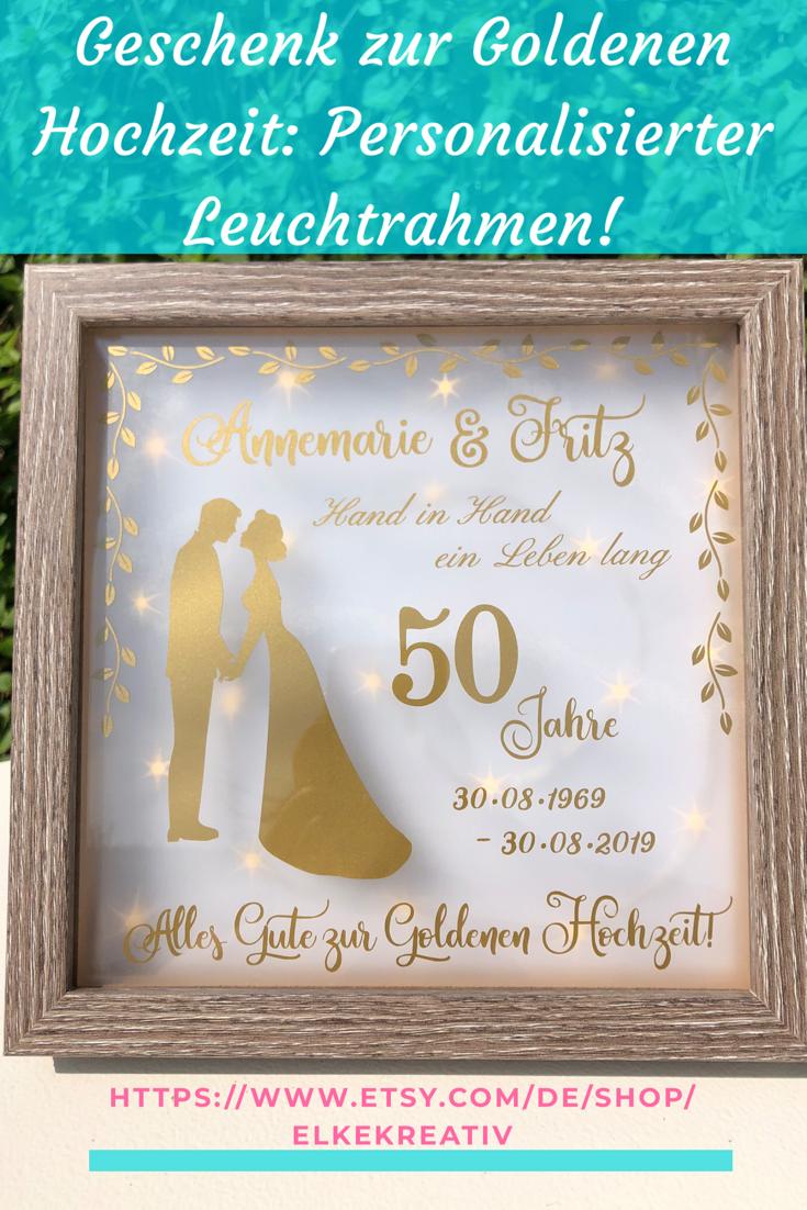 Geschenk Zur Goldenen Hochzeit Beleuchteter Bilderrahmen Etsy Geschenke Zur Goldenen Hochzeit Geldgeschenk Goldene Hochzeit Geschenkideen Goldene Hochzeit