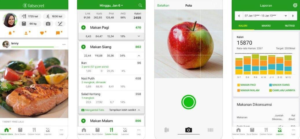 Fatsecret Adalah Sebuah Aplikasi Yang Nantinya Membantu Anda Untuk Menghitung Berapa Kalori Yang Telah Anda Konsumsi Dan Kalori Ya Makanan Aplikasi Makan Siang