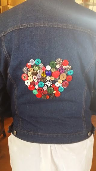 In the back of my jean jacket    heart of button by beth