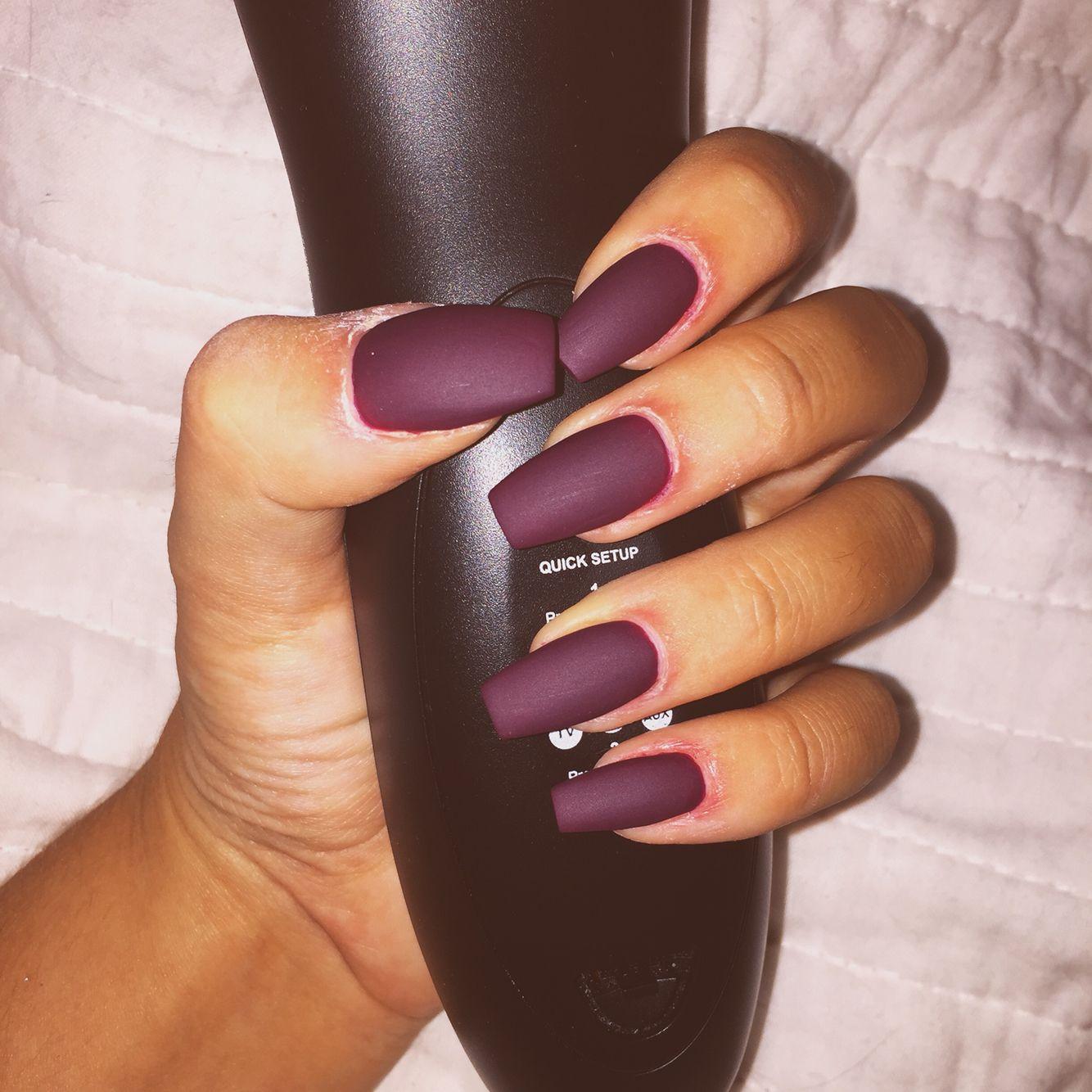 Matte, ballerina nails | Nails | Pinterest | Ballerina nails ...