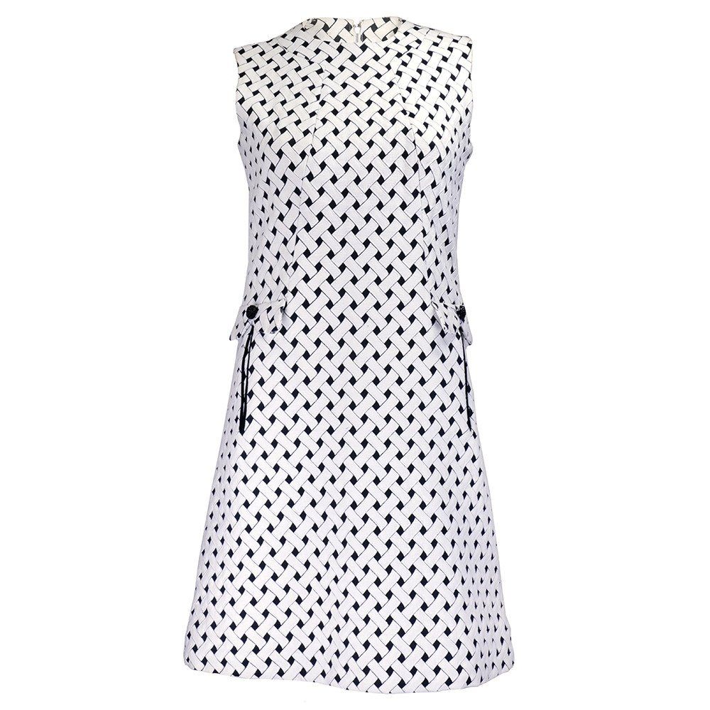 9efc5477a40 Vintage ADOLFO 60s Black   White Lattice Dress SOLD – THE WAY WE WORE
