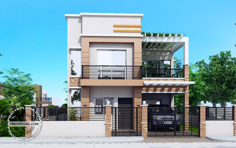 Carlo is  bedroom story house floor plan that can be built in square meter lot with at least meters width this design conveniently also picture of montemayor exquisite four two rh pinterest