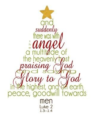 It\u0027s tradition that my family recite Luke 28-14 as our Christmas