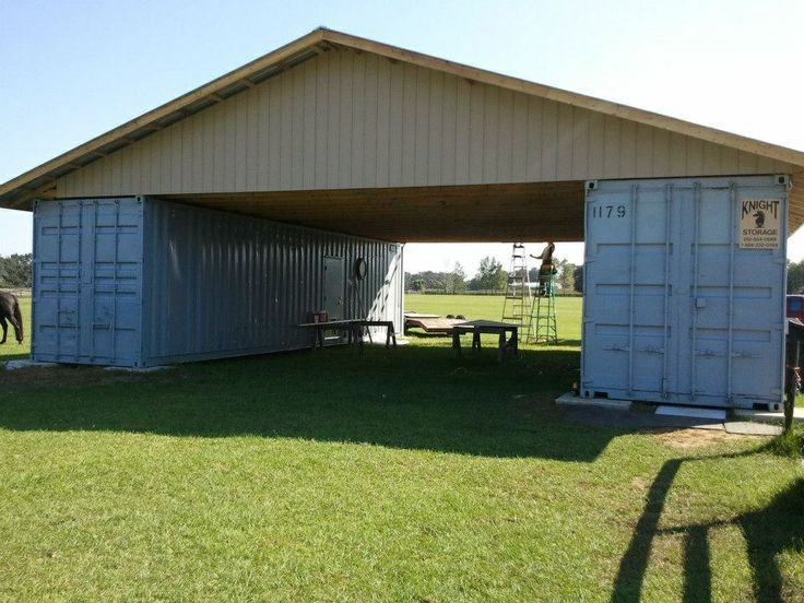 Cargo container barn trusses garage carport in our near for Container garage voiture
