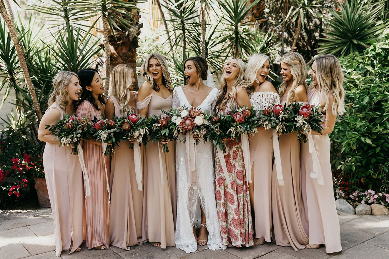 Bougainvillea Boho Chic An Epic Wedding In Palm Springs Tan