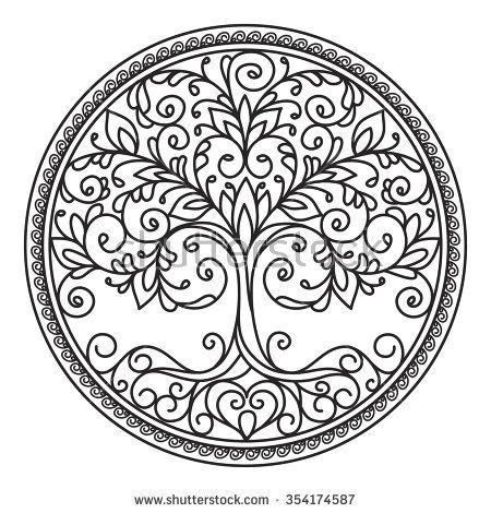 decor element, vector, black and white illustration