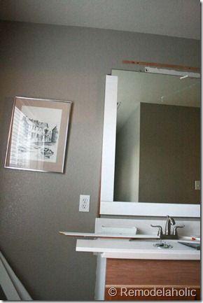 Framing A Large Bathroom Mirror 17 Large Bathroom Mirrors