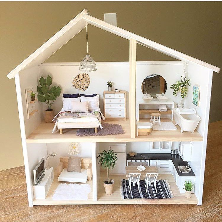 ikea flisat dollhouse wall shelf craft ideas pinterest maisons bricolage et enfants. Black Bedroom Furniture Sets. Home Design Ideas