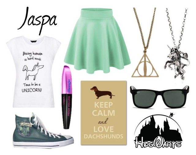 """Jaspa"" by jijikooky ❤ liked on Polyvore featuring Converse, Ray-Ban, Disney and momocreatura"