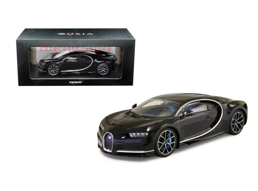 New Diecast Toys Car Kyosho 1 18 Bugatti Chiron Black C09548bk You Can Obtain Additional Information Bugatti Chiron Black Remote Control Cars Bugatti Chiron