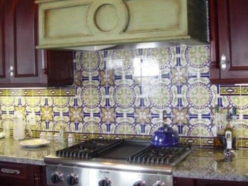 Spanish Tile Backsplash With Granite Countertops Kitchen Ideas From Liance Reviews