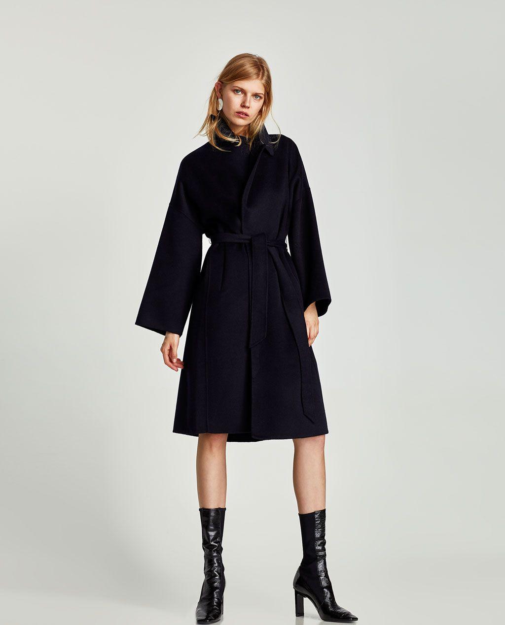 ec61eed59cbf6 Manteaux pour femme. LONG WOOL COAT WITH BELT-Coats-OUTERWEAR-WOMAN   ZARA  Denmark