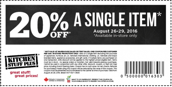 Kitchen Stuff Plus Canada New Coupons Save 20 Off A Single Item Http