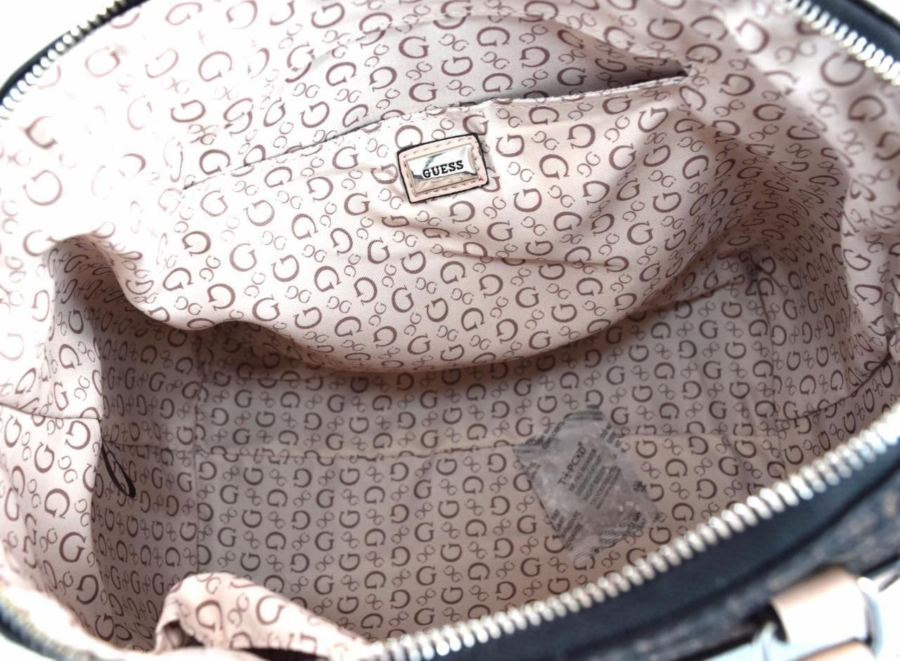 AUTHENTIC NEW NWT GUESS LEONORE BROWN SATCHEL SHOULDER BAG  69.99 ... 2c54a581ab339