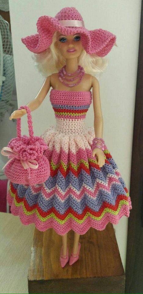 Crochet Barbie Dress, Crochet | Kıyafet | Pinterest | Patrón de ...