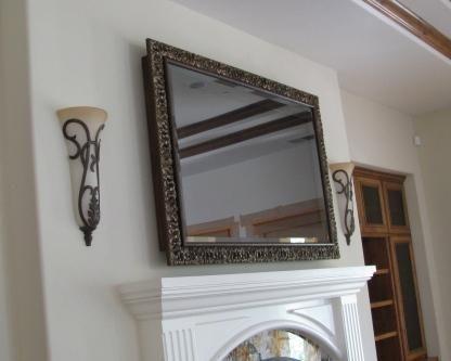 Meditrenean Rustic 65 Quot Tv Mirror Over Fireplace Mirror Over Fireplace