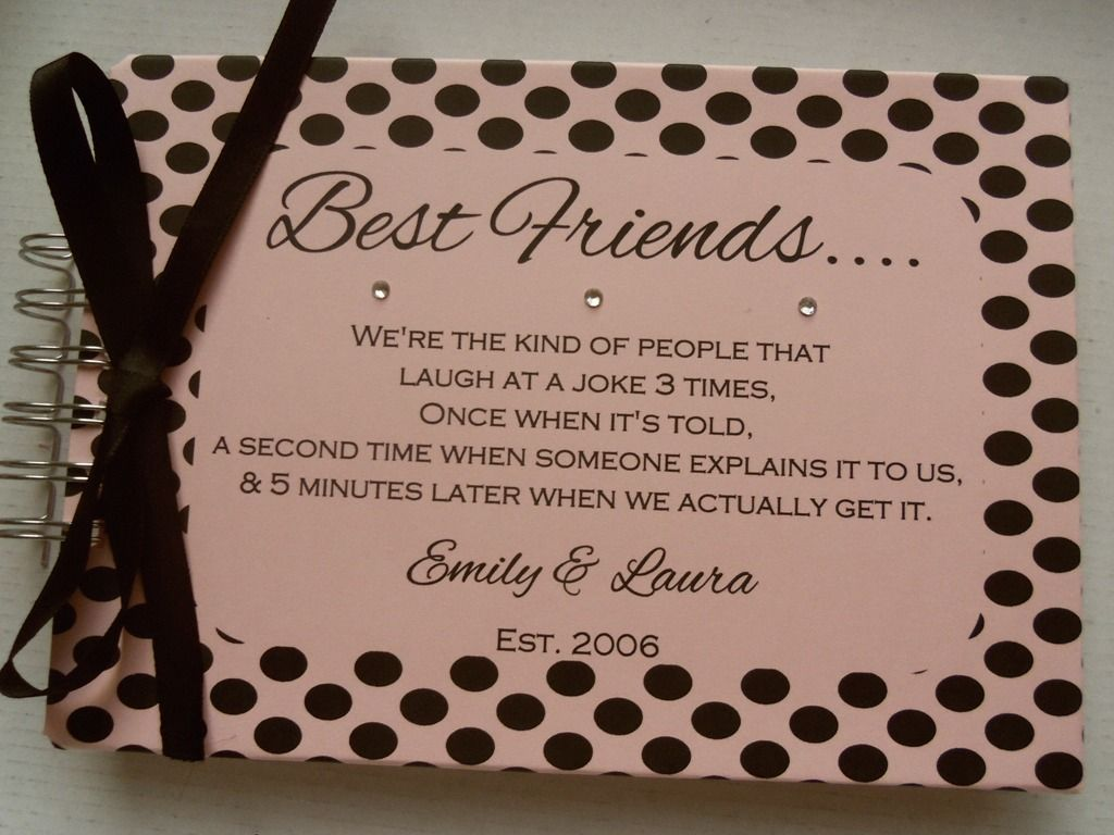 Scrapbook Ideas For Best Friend