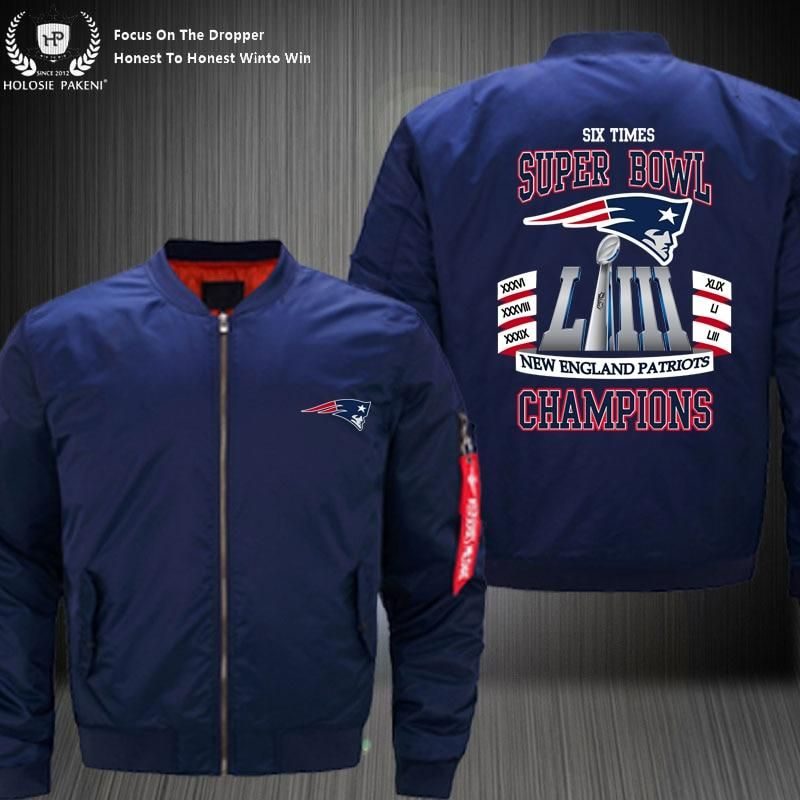 meet 12404 20a8c Low Price New England Patriots Bomber Jacket Six Time Super ...