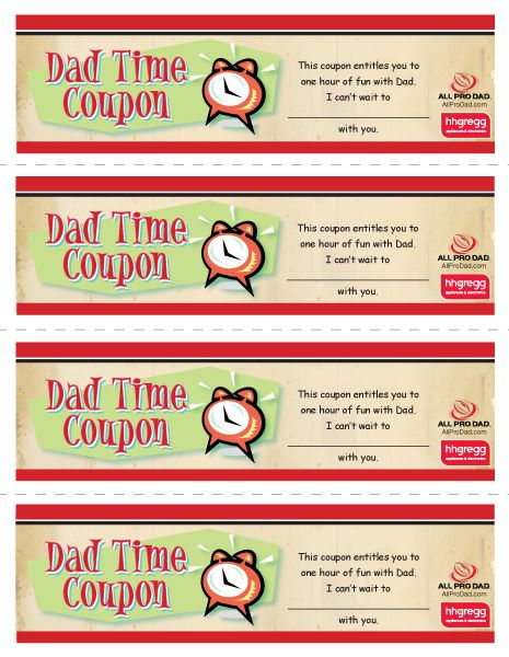 Hang time coupons