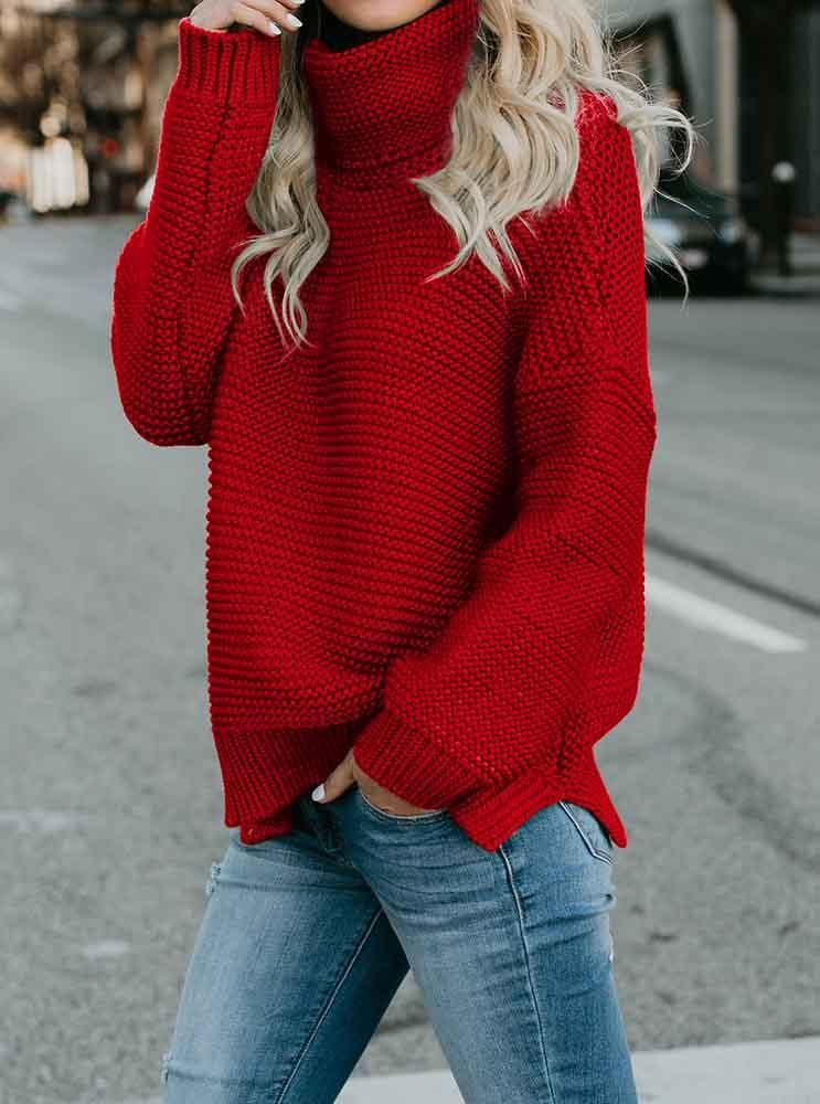 f715c917193 Cute Cozy Red Sweaters Knit Pullover Womens Cable sweaters spring   summer  classy trendy sweaters outfits for teens for school for women  fashion   style ...
