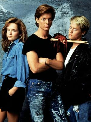 """Lea Thompson, Eric Stoltz and Mary Stuart Masterson in the movie """"Some Kind of Wonderful""""....."""