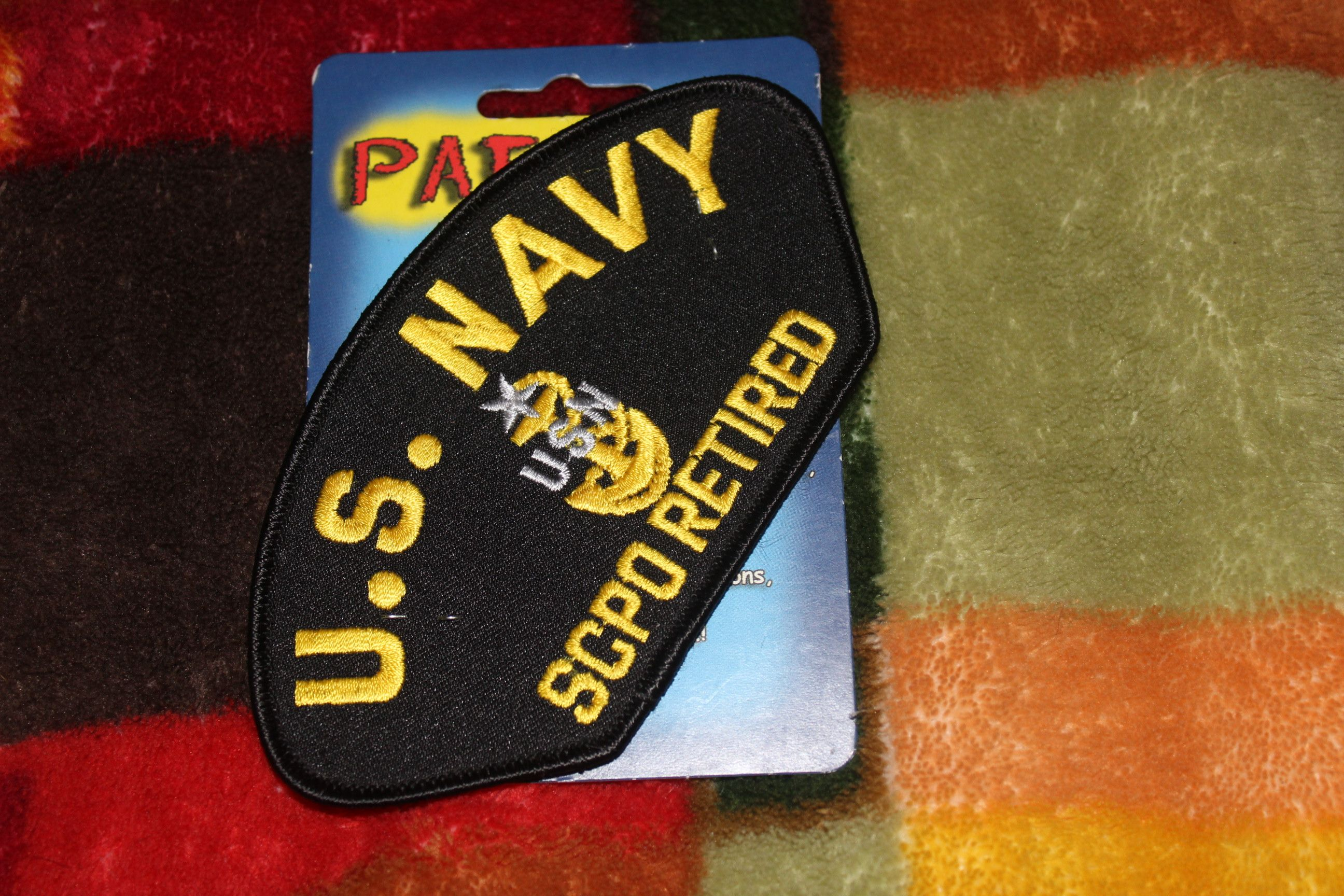 US Navy USN SCPO Retired Hat Patch Military Cap Patch New