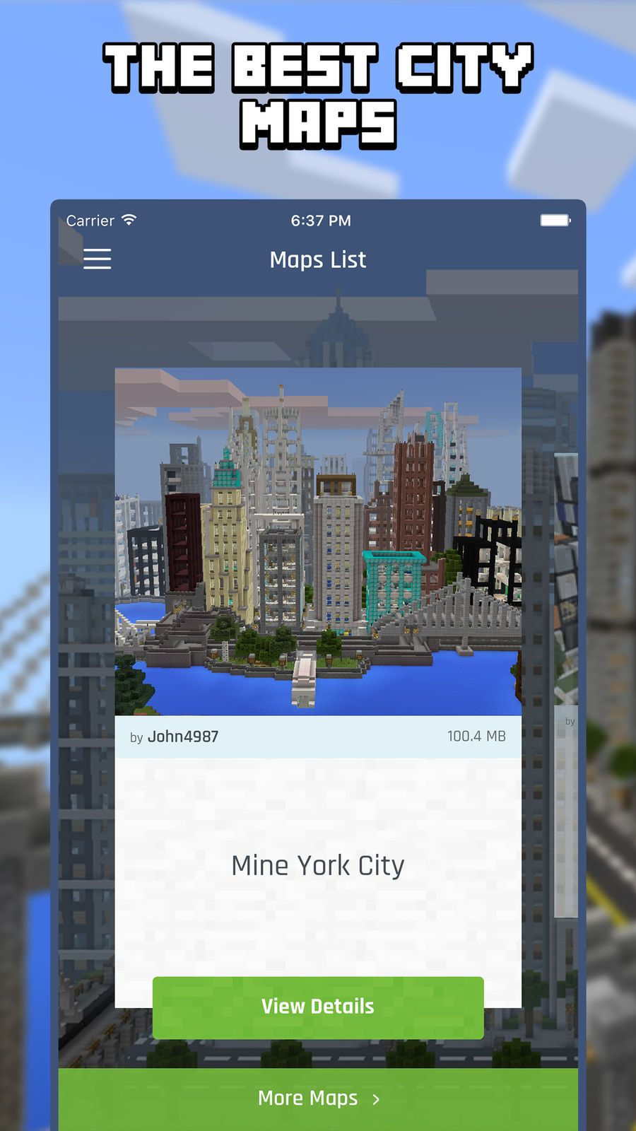 best minecraft pe maps app