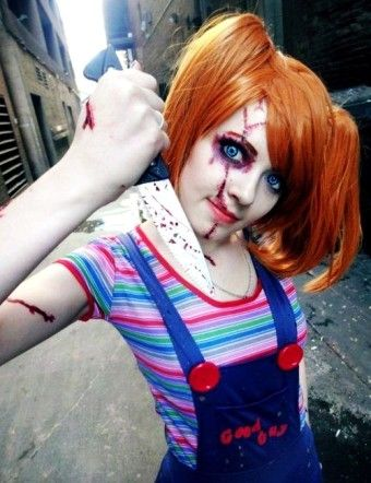 2015 bloody zombie rotten doll with knife - 2015 Halloween costume