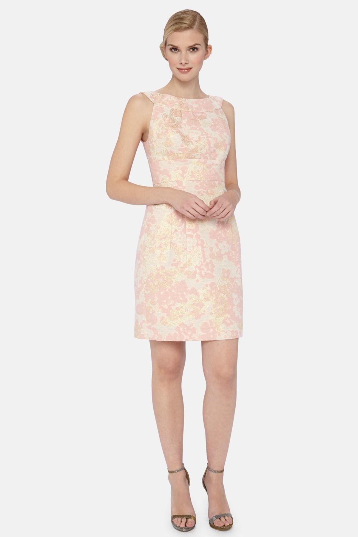 Floral Brocade Sheath Dress