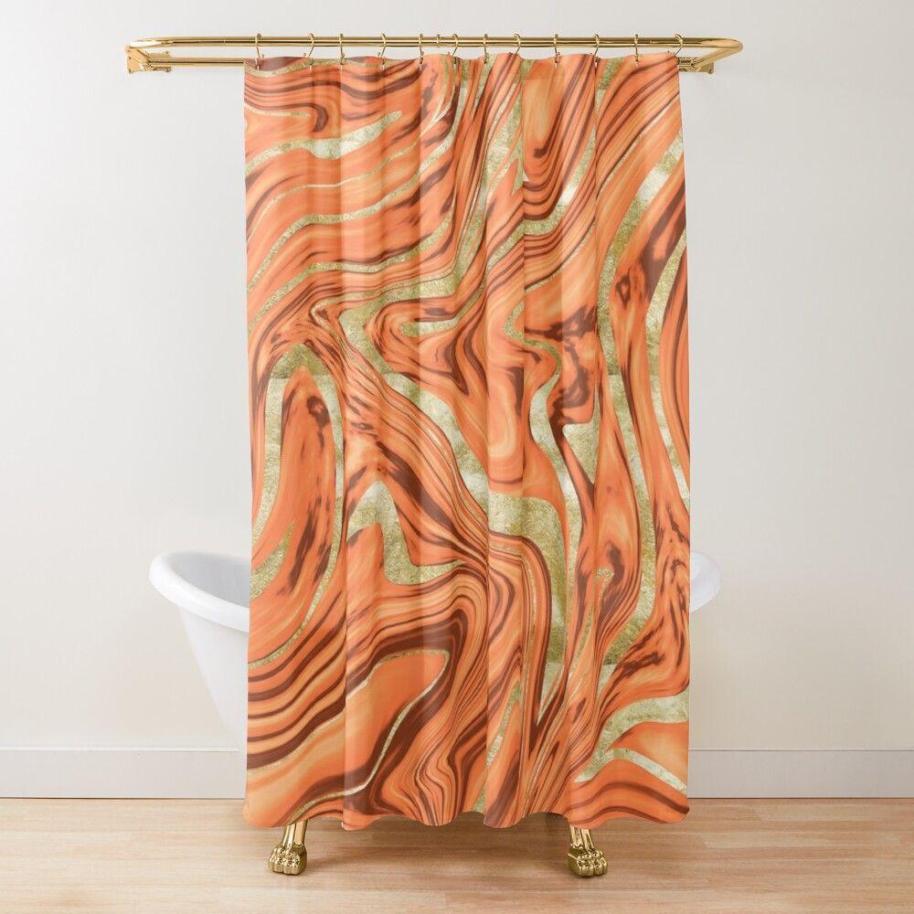 orange brown gold marble 1 decor art