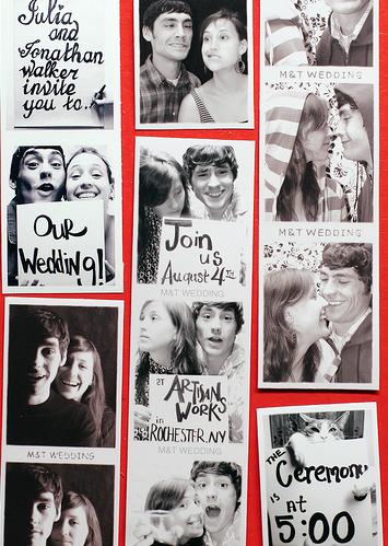 Convite de casamento Photomaton