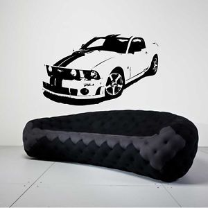 Ford Mustang Race Car Kid Room Wall Mural Vinyl Decal EBay - Wall decals carsracing car wall decal ideas for the kids pinterest wall
