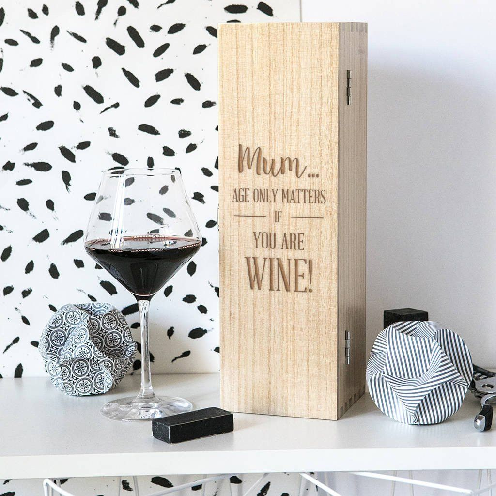 Shop Now! Personalised 'Age...  http://www.blueponystyle.com/products/personalised-age-only-matters-birthday-gift-wine-box?utm_campaign=social_autopilot&utm_source=pin&utm_medium=pin   #etsymntt #EtsySocial #ESLiving #EpicOnEtsy #etsyretwt #gift #ATSocialUK  #shopifypicks