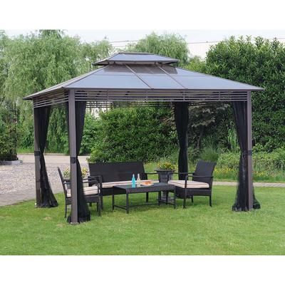 Hampton Bay Farrington Hard Top Gazebo 10x12 Feet Home Depot Canada Gazebo Pergola Gazebo Patio Gazebo