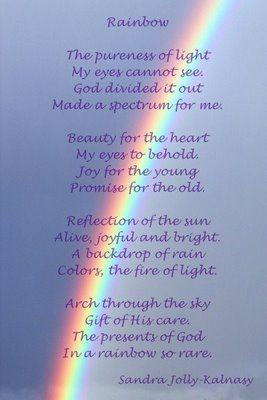 Dustyoak Rainbow God S Promise Rainbow Quote Gods Promises Rainbow Poem