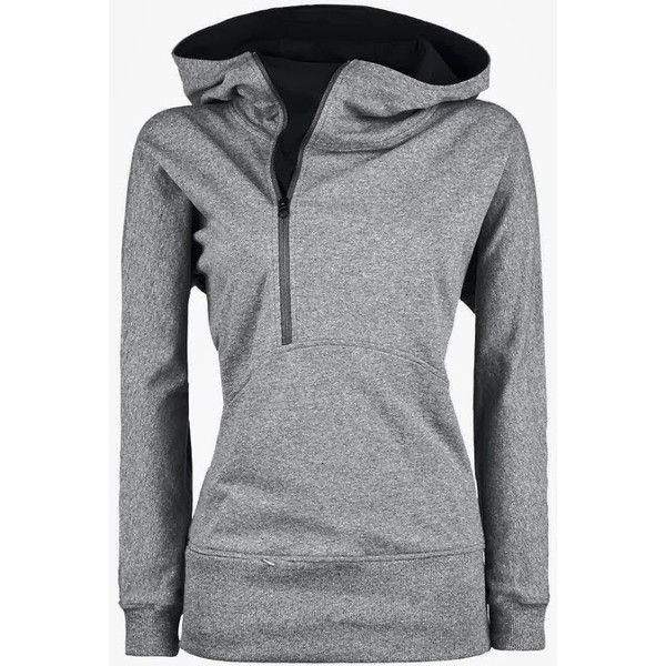 Adorable Grey Hoodie with Inside Black Side Zipper for Fall Winter... ❤ liked on Polyvore featuring tops, hoodies, hooded sweatshirt, grey hoodie, gray hoodie, side zipper hoodies and side zipper hoodie