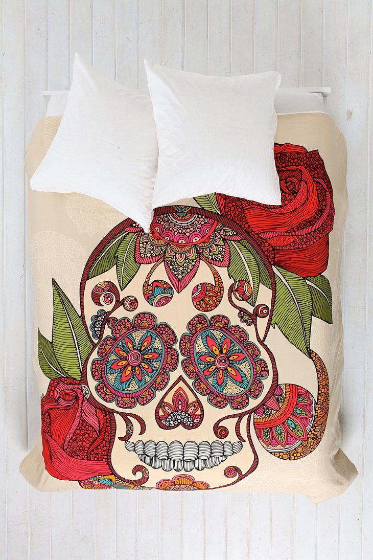 Valentina Ramos For DENY Sugar Skull Duvet Cover