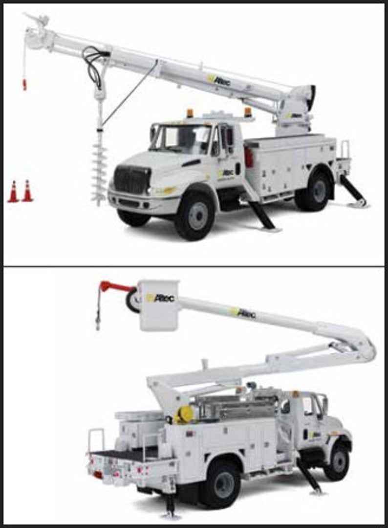 Upgrade Your Choice With Logo First Gear Bucket Truck Or Digger Derrick Truck In 2020 Bucket Truck Hot Wheels Garage Trucks