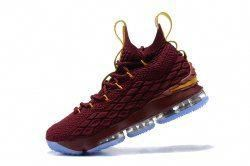 a74b051158c455 Nike LeBron 15 Men s Basketball Shoes Wine Red Yellow  basketballshoes