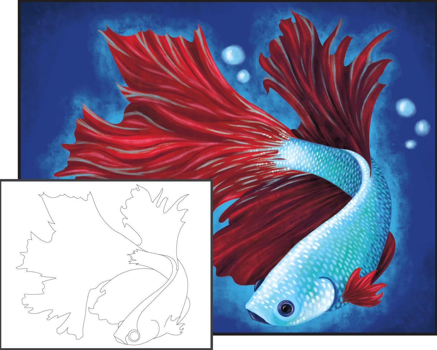 Acrylic Painting: Bold Betta Fish   arts and crafts   Pinterest ...
