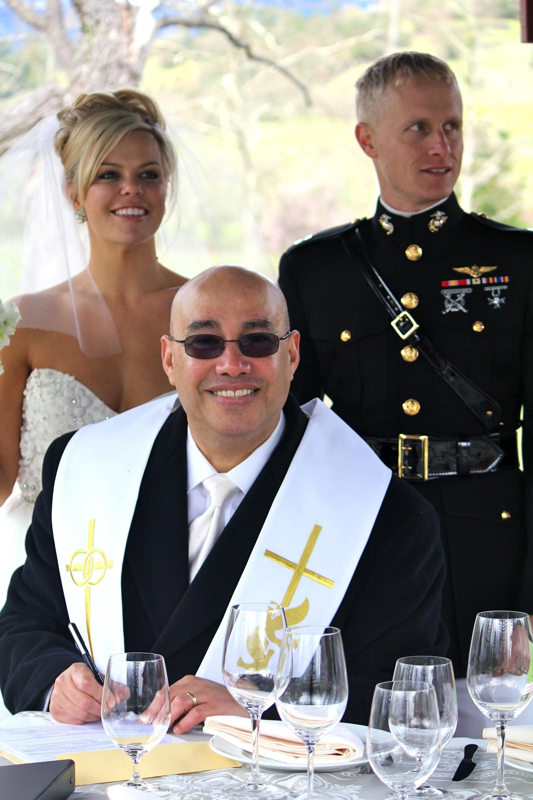 Military Wedding by Chaplain / Pastor Tom Burgos www
