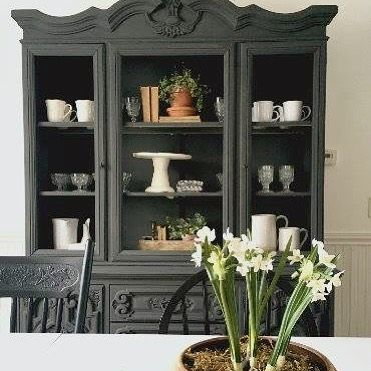 Loving Our New Dining Room Hutch The Best Part Is Decorating It And Of Course All Storage I Have Gained Shop Look White Metal Ca