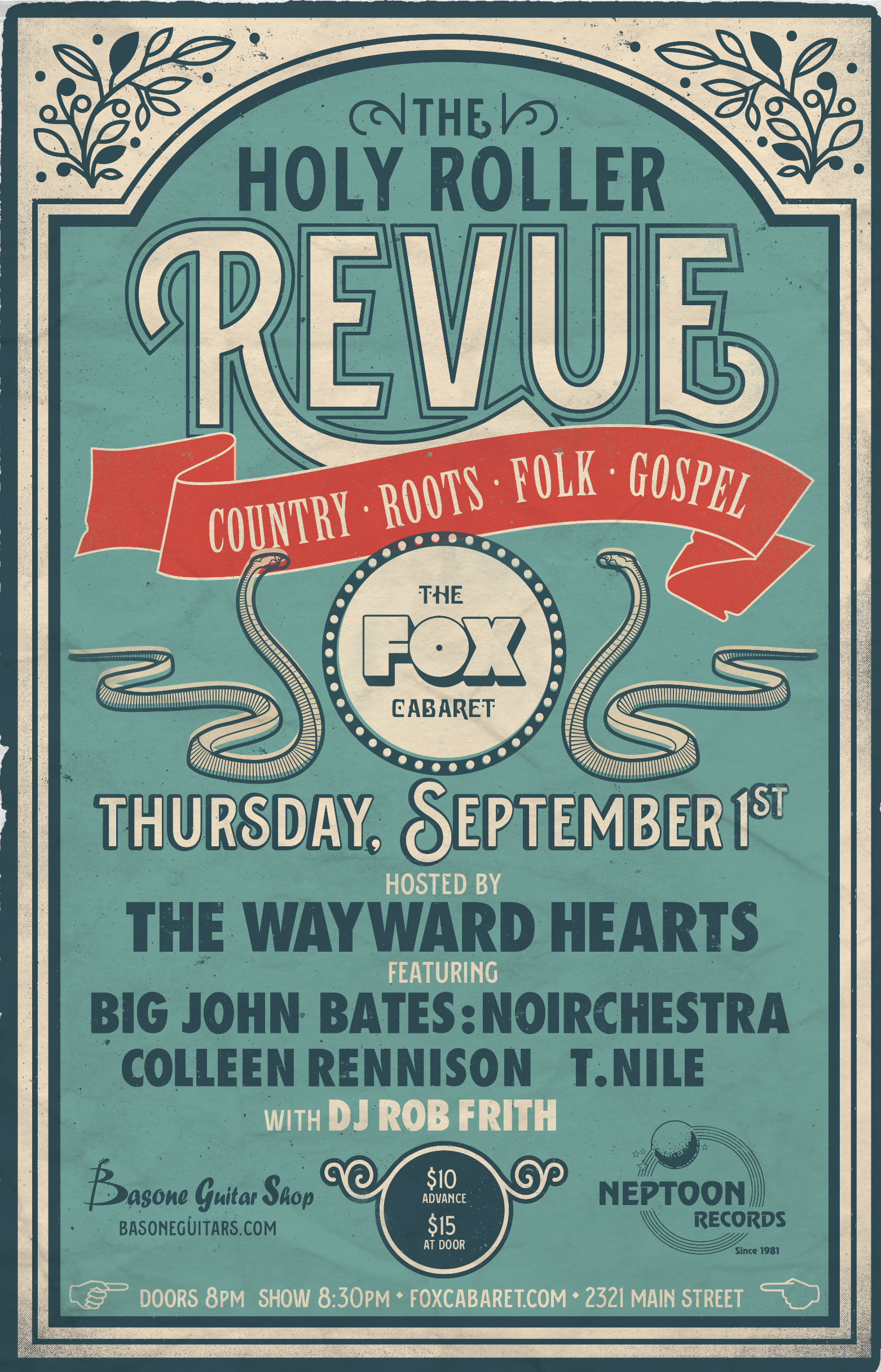 Poster design vancouver - Vintage Inspired Poster Design For Country Roots Folk Music Series In Vancouver