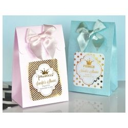 Sweet Shoppe Candy Boxes - Baby Metallic Foil - SET OF 12 -- Instead of the Prince or Princess Design Choose the Twinkle Twinkle Little Star Design for your baby shower!