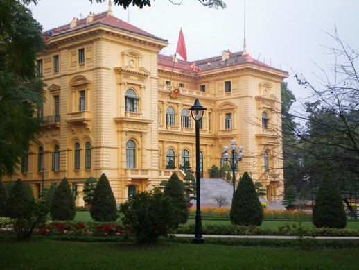 French architecture in Hanoi.