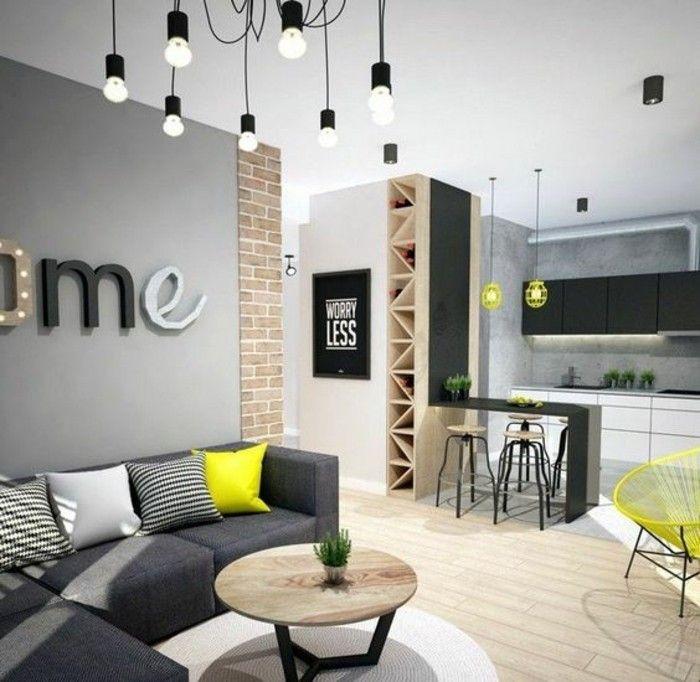 canape d angle en gris fonce decorer son appartement astus deco salon