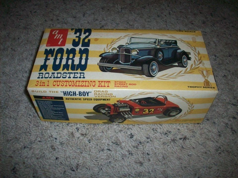 OLD AMT 3 IN 1 Trophy 1932 FORD roadster MODEL KIT. BOX ONLY O.E. & OLD AMT 3 IN 1 Trophy 1932 FORD roadster MODEL KIT. BOX ONLY O.E. ... markmcfarlin.com