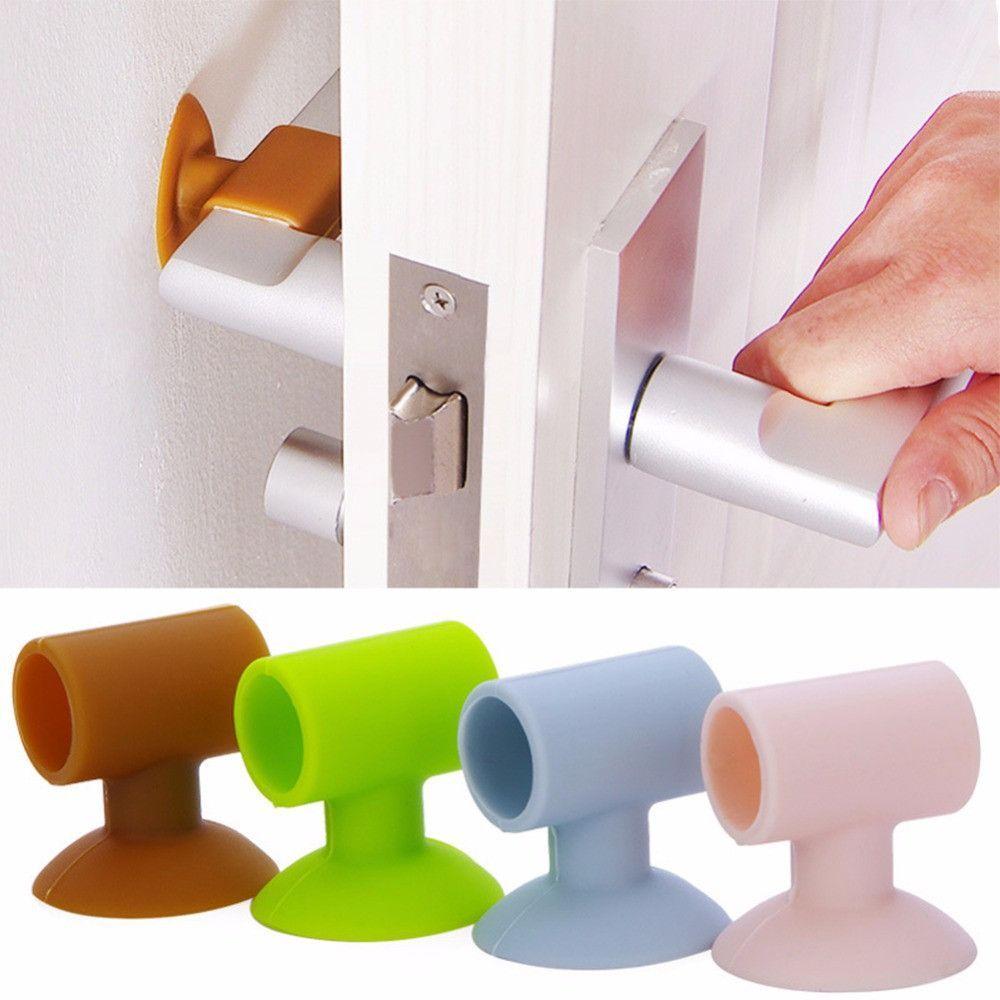 Safety Equipment Doorknob Crash Pad Wall Mute Door Stick Rubber Fender Handle Door Lock Protective Pad Protection Collision Protection Bumper