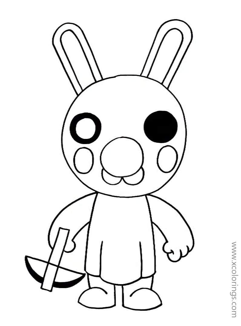 Piggy Roblox Coloring Pages Hare Archer Fnaf Coloring Pages Kitty Drawing Coloring Pages